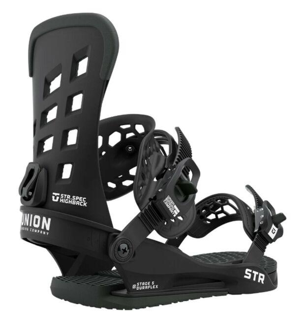 Union STR Snowboard Bindings Mens Large (US 10.5+) Black New 2021