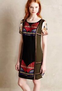 8ccdefdca02 Image is loading Anthropologie-Ranna-Gill-Fanned-Vignette-Embroidered-Shift- Dress-