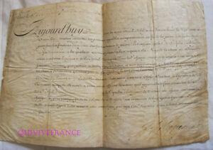 BREVET-D-039-ENSEIGNE-DE-VAISSEAU-1738-signe-par-le-Comte-de-Maurepas