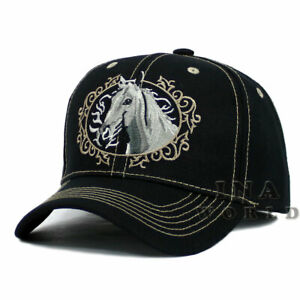 e816fc74c38de6 Horse hat cap Western Style Embroidered Baseball cap Size Adjustable ...