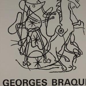 GEORGES-BRAQUE-Plakat-Ausstellung-1967-Lehmbruck-Museum-Duisburg-Kubismus