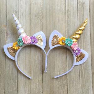 USA Magical Unicorn Horn Head Band Party Kids Hair Headband Fancy Dress Cosplay