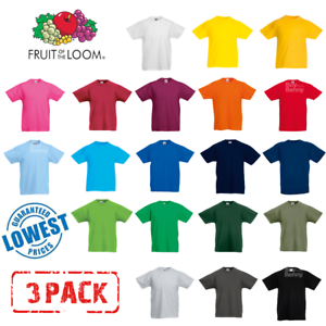 3-Pack-Fruit-Of-The-Loom-KIDS-T-SHIRT-TEE-CHILDREN-BOYS-GIRLS-SCHOOL-PE-ALL-AGES