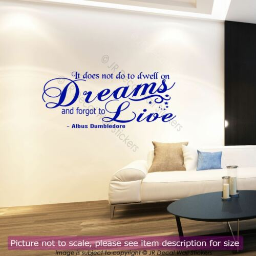Harry Potter Wall Sticker Albus Dumbledore Dreams Quote Removable Vinyl Decal