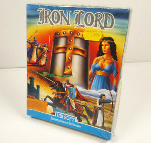 IRON-LORD-by-UBI-Soft-Commodore-64-C64-GAME-Disk-NOS-SEALED-BIG-BOX-VGC-NEW-GER