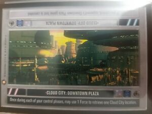 Star Wars CCG Reflections Cloud City Downtown Plaza FOIL NrMint-MINT SWCCG