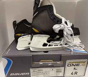 New-BAUER-SUPREME-ONE-4-ICE-HOCKEY-SKATES-SIZE-4-R-PERFECT-CONDITION-New