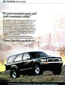 "1990 Toyota 4 Runner Part Mountain Goat Part Condo-Original Print Ad 8.5 x 11"""