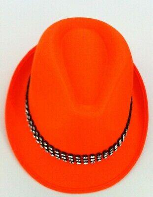Trilby Hat Satin Orange with Diamond 59c