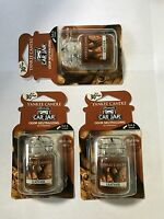 Set Of 3 - Yankee Candle Car Jar Ultimate Leather