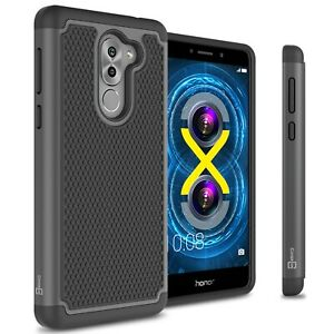 detailed look bb6b4 d62f7 Details about For Huawei Honor 6X / Mate 9 Lite Case - Black Rugged Skin  Hard Slim Phone Cover