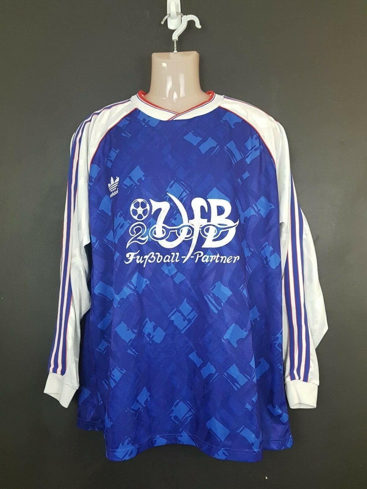 Vintage Adidas football soccer shirt jersey Arsenal-esq VFB Stuttgart XL 1990 92