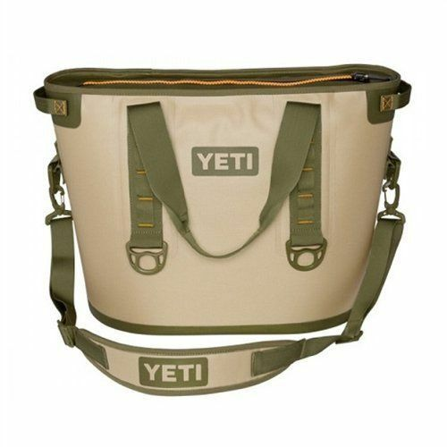 NEW YETI Hopper ONE 30 Cooler Portable Cooler Bag Tan Orange
