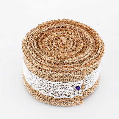 1M 3M 5M Rustic Wedding Decor Floristry Natural Jute Hessian Burlap Ribbon Tape