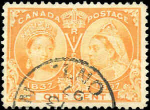 1897-Used-Canada-1c-F-Scott-51-Diamond-Jubilee-Stamp