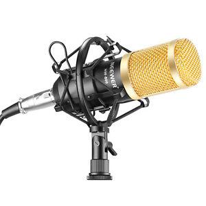 Neewer-NW800-Black-Studio-Microphone-a-Condensateur-Shock-Mount-anti-vent-en-mousse-Cap