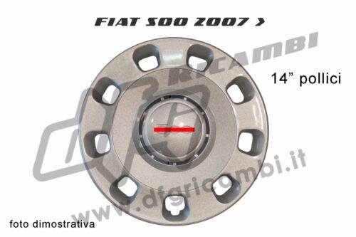 """COPPA RUOTA BORCHIA FIAT 500 2007 /> 14/"""" POLLICI COPRI CERCHIO"""