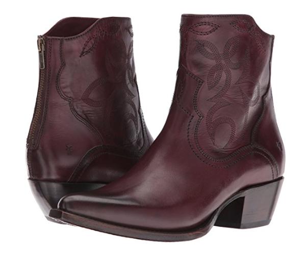 New in Box FRYE damen Shane Embroiderot Short Western Stiefel Bordeaux 6 M   358