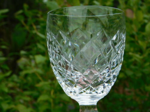 WATERFORD COMERAGH CLEAR CUT CRYSTAL CLARET WINE STEM GLASS