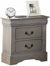Item 2 Night Accent Table, 2 Drawer Antique Style Nightstand Bedroom  Furniture  Gray  Night Accent Table, 2 Drawer Antique Style Nightstand  Bedroom ...