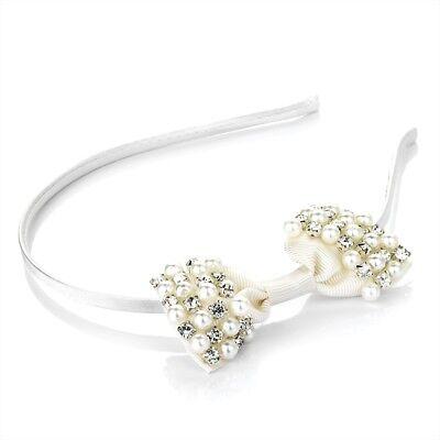 Ivory Pearl Bridal Hair Band Headband Bridesmaid