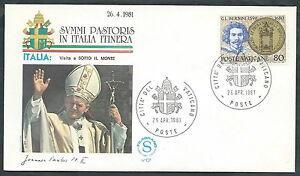 1981 Vaticano Viaggi Del Papa Sotto Il Monte - Sv DernièRe Technologie