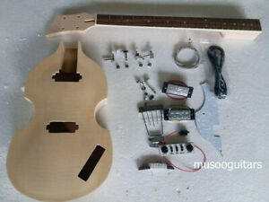 NEW DIY Electric Bass Guitar Kit Violin Bass Build Your Own With All The Parts
