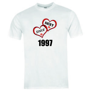 10539-Sexy-since-1997-Brand-new-T-shirt-tee-birthday-xmas-valentines-funny-gift
