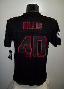 Details about YOUTH KANSAS CITY CHIEFS #40 Peyton HILLIS Sewn Jersey BLACK YOUTH M, L