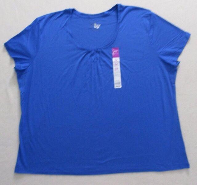 Women Top JMS 5X Blue Short Sleeves 1900P