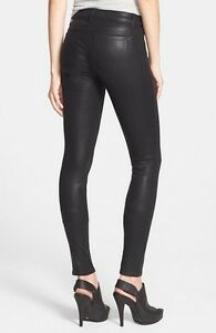 57156ae624ca J BRAND Skinny faux Leather Coated Fearless Jeans Women slim Legging ...