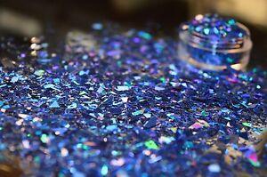 Detalles De Grado Cosmético Exclusivo Bizzy Nails Uñas Gelacrílico Azul Eléctrico De Mylar Ver Título Original