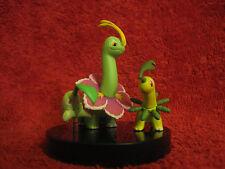 3 Pokemon Figure:Meganie-Linie/1,5-4,5cm(Meganium-Line)gebrauch/Zukan/Tomy-Yujin