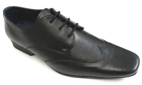 Men/'s Black Real Leather Italian Designed Fashion Shoes Sizes UK 8 /& 10