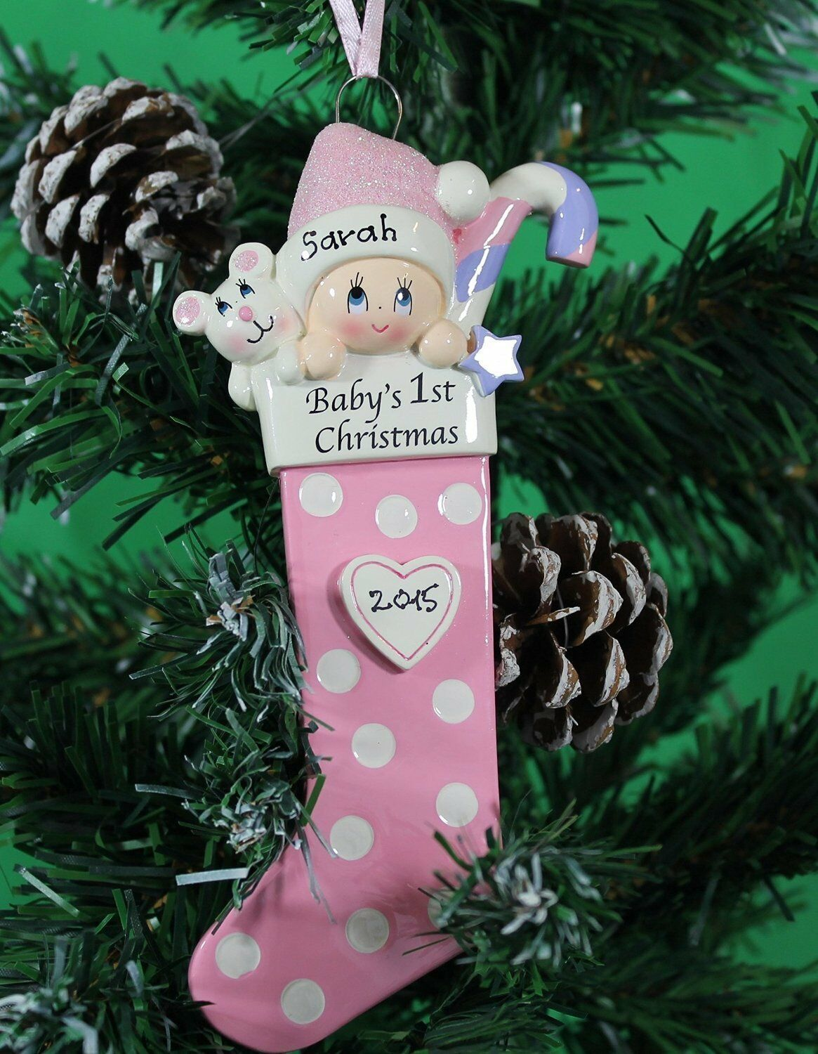 Personalised Baby's 1st Christmas tree Ornament - Baby ...