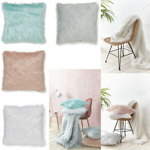 Catherine-Lansfield-Sparkle-Bling-Shine-Metallic-Fur-Soft-Shimmer-Cushion-Cover