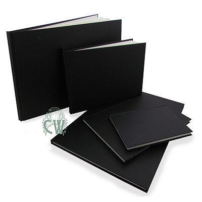 A4 Portrait Seawhite Black Cloth Hardback Sketchbook.Quality Artists Sketch Book