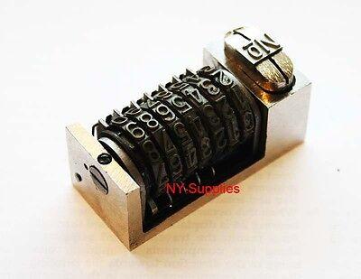 """For Heidelberg Kluge 3//16/"""" Gothic Font Letterpress Numbering Machine 10 digits"""