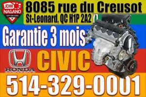 Moteur 1.7 Honda Civic 2001 2002 2003 2004 2005 D17A1 D17A2 JDM D17A Engine, 01 02 03 04 05 Civic Motor SI LX DX Greater Montréal Preview