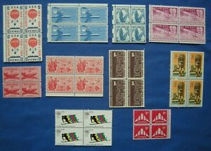 US Air Mail Blocks of 4 Stamp Collection MNH 10 Blocks of 4