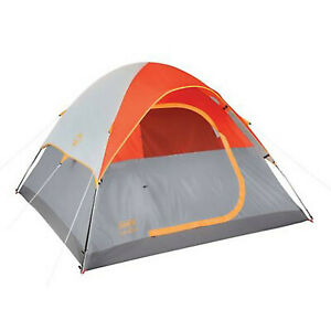 Coleman Willow Pass II 4-Person Dome Tent Easy 10 Minute Set-Up Protection fr...