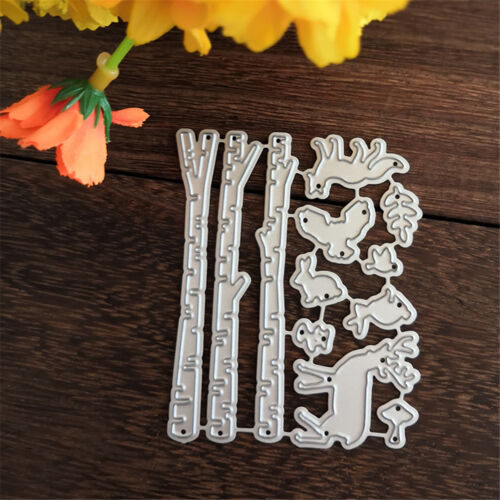 Forest Tree Pole Design Metal Cutting Dies For DIY Scrapbooking Album Card PT