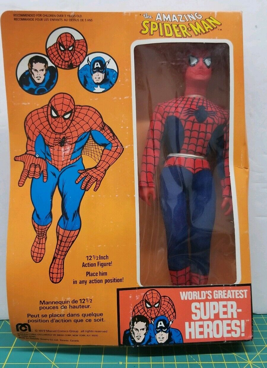 "1977 Mego The Amazing Spiderman 12.5"" Action Figure Figure Figure World Greatest Super Heroes 786c05"