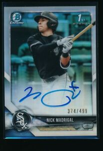 NICK-MADRIGAL-AUTO-1st-2018-Bowman-Chrome-Autograph-REFRACTOR-499-Rookie-RC