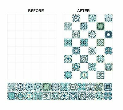 """150mm /& 6/"""" 6 inch Square Tiles C25 Mosaic Pattern Stickers Transfers For 148mm"""