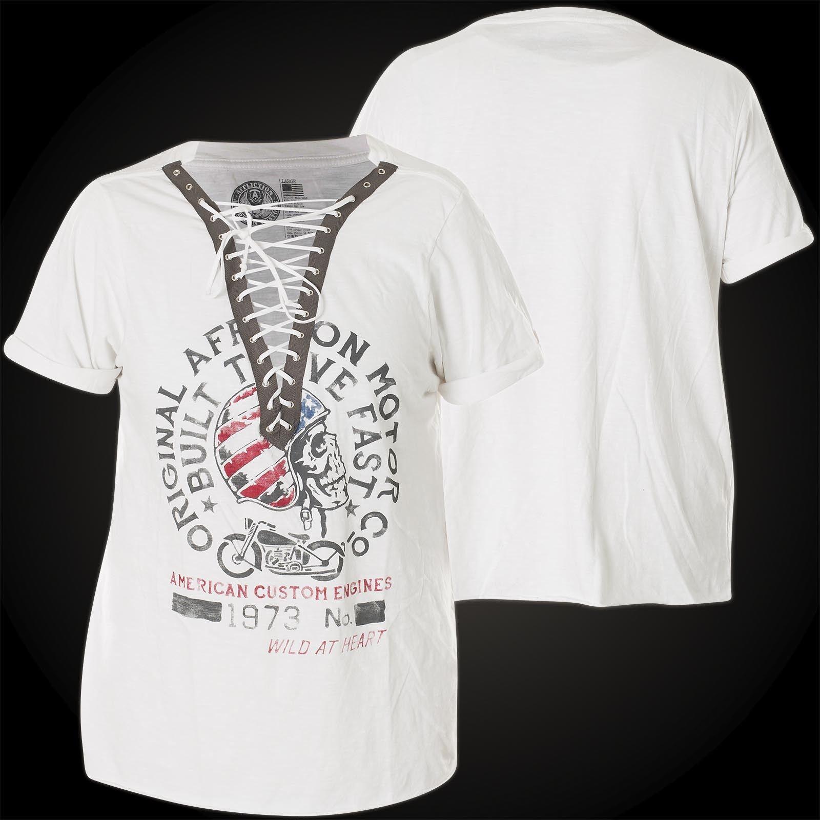 AFFLICTION Damen T-Shirt High Sierras Weiß