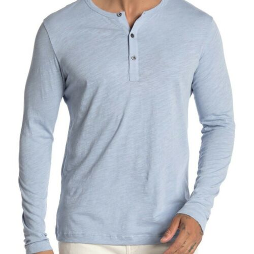 Theory Arlee Strato Baby Blue Long Sleeve Henley S
