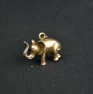 Chinese-Pure-brass-elephant-small-pendant