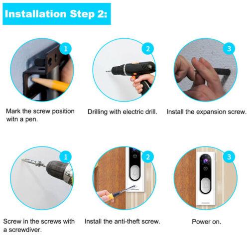 Wireless WiFi Video Doorbell Smart Phone Door Intercom Security Camera Bell PIR