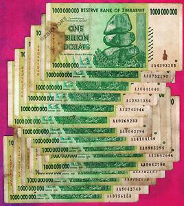 1-Billion-Zimbabwe-Dollars-x-15-Banknotes-AA-2008-15PCS-Currency-Paper-Money-Lot